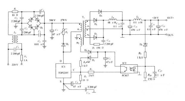 低噪声开关电源原理电路图