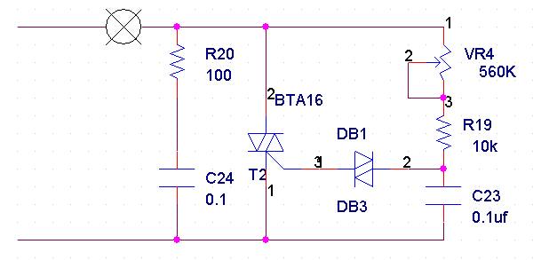 可控硅调光电路